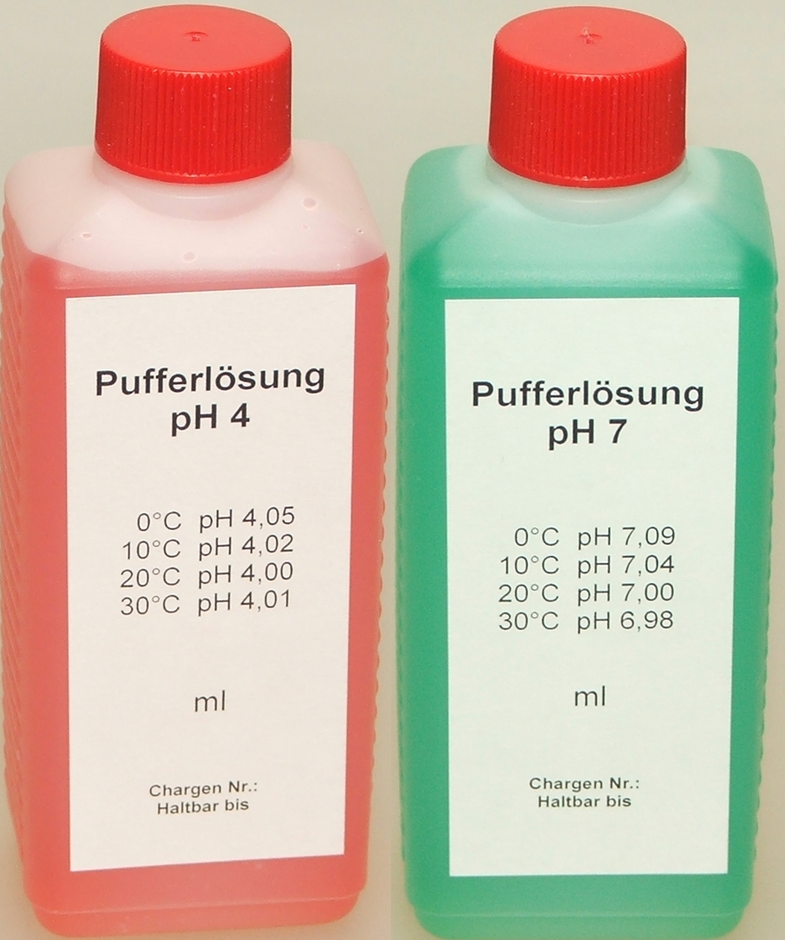 Pufferlösung / Eichlösung Set je 250 ml pH4 + pH7