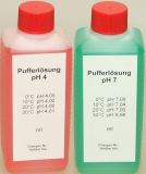 Pufferlösung / Eichlösung Set je 1000 ml pH4 + pH7